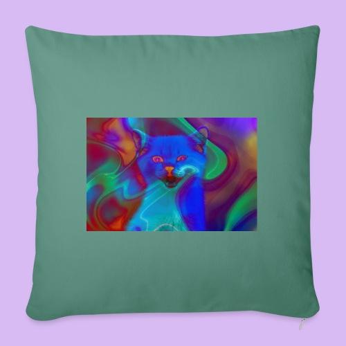 Gattino con effetti neon surreali - Copricuscino per divano, 45 x 45 cm
