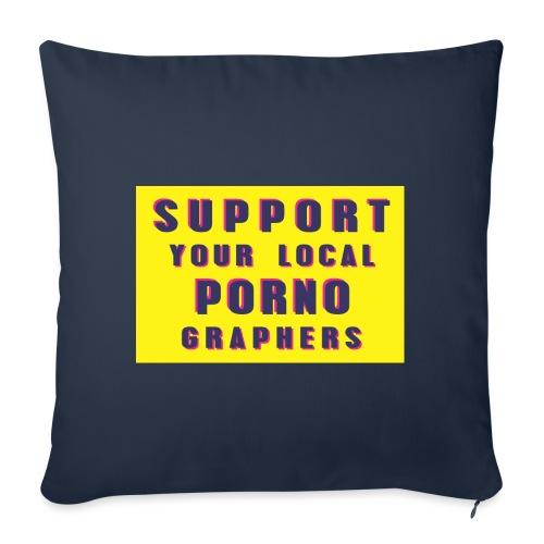Support Your Local Pornographers - Funda de cojín, 45 x 45 cm