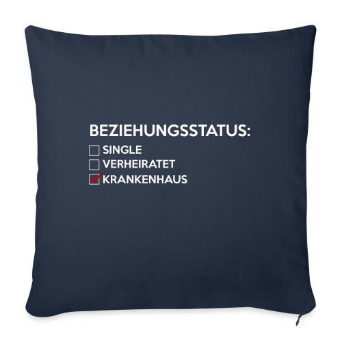 Beziehungsstatus - Krankenhaus - Sofakissenbezug 44 x 44 cm