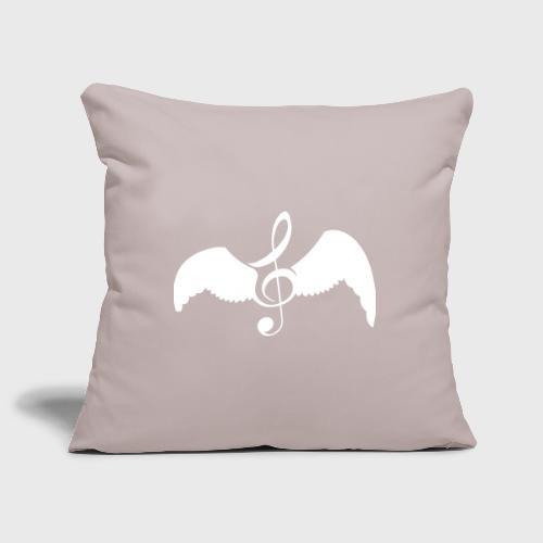 Musique donne des ailes - Housse de coussin décorative 45x 45cm