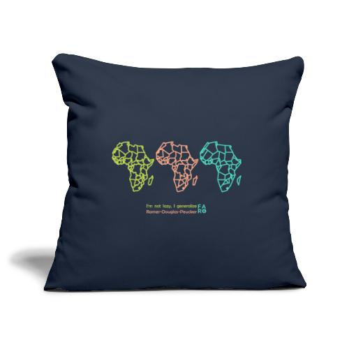 Ramer-Douglas-Peucker Algorithm -Africa - Sofa pillowcase 17,3'' x 17,3'' (45 x 45 cm)