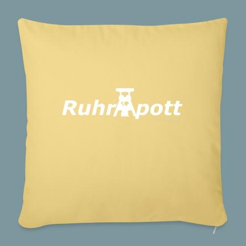 Ruhrpott (weiß) - Sofakissenbezug 44 x 44 cm
