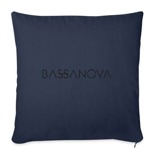 bassanova black - Sierkussenhoes, 45 x 45 cm
