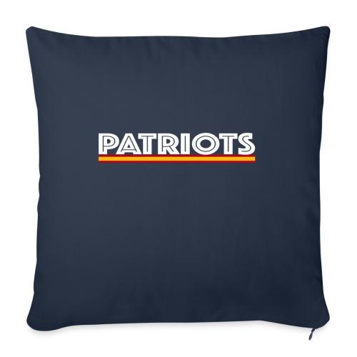 patriots esp 02 blanco - Funda de cojín, 45 x 45 cm