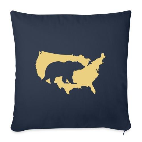 USA Amerika America Grizzly Baer Teddy Bär - Sofa pillowcase 17,3'' x 17,3'' (45 x 45 cm)