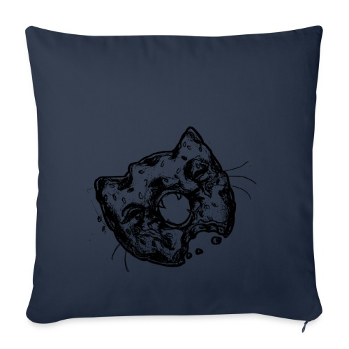 Dona Gato Negro - Funda de cojín, 45 x 45 cm