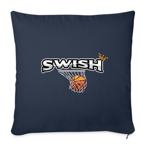 The king of swish - For basketball players - Sofa pillowcase 17,3'' x 17,3'' (45 x 45 cm)