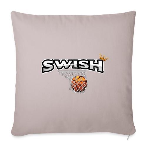 The king of swish - For basketball players - Sofa pillowcase 17,3'' x 17,3'' (45 x 45 cm)