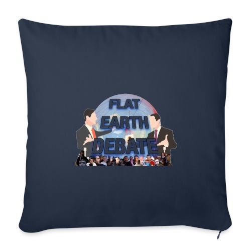 Flat Earth Debate Transparent - Sofa pillowcase 17,3'' x 17,3'' (45 x 45 cm)