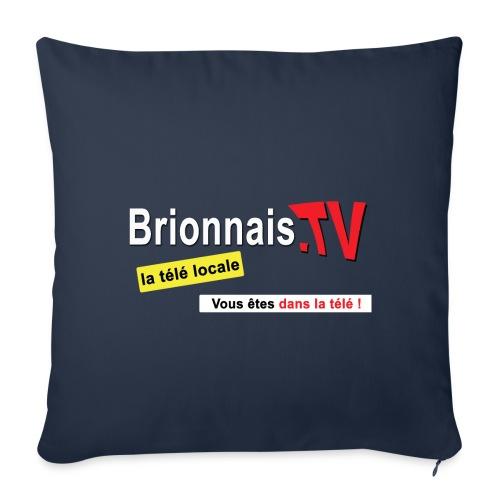 BTV logo shirt dos - Housse de coussin décorative 45x 45cm