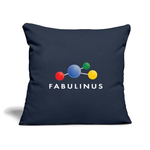 Fabulinus logo dubbelzijdig - Sierkussenhoes, 45 x 45 cm