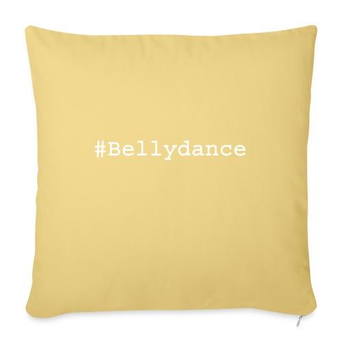 Hashtage Bellydance White - Sofa pillowcase 17,3'' x 17,3'' (45 x 45 cm)