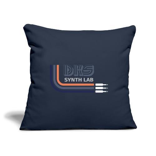 DKS SYNTH LAB Curved Blue-Orange - Copricuscino per divano, 45 x 45 cm