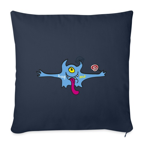 Hug me Monsters - Every little monster needs a hug - Sofa pillowcase 17,3'' x 17,3'' (45 x 45 cm)