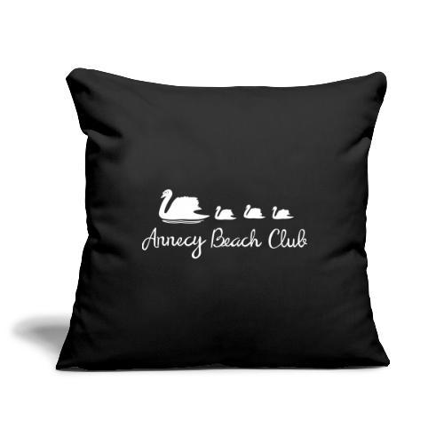 Annecy Beach club - Cygnes - Housse de coussin décorative 45x 45cm