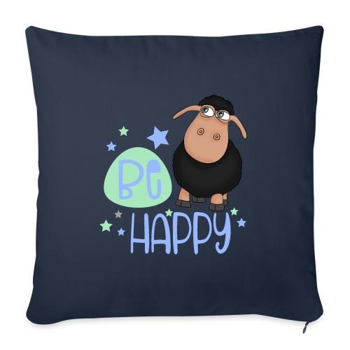 Black sheep - Be happy sheep - lucky charm - Sofa pillowcase 17,3'' x 17,3'' (45 x 45 cm)