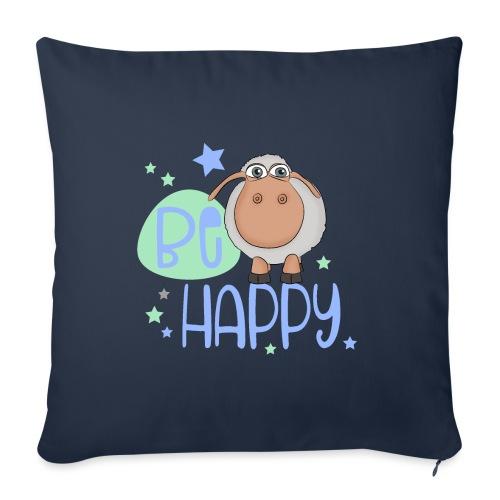 Be happy sheep - Happy sheep - lucky sheep - Sofa pillowcase 17,3'' x 17,3'' (45 x 45 cm)