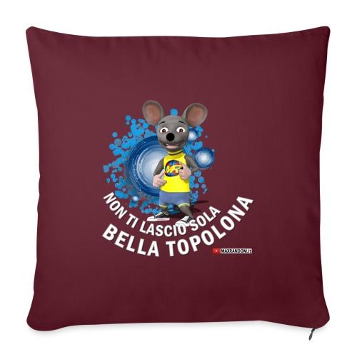 Bella Topolona testo Bianco - Copricuscino per divano, 45 x 45 cm