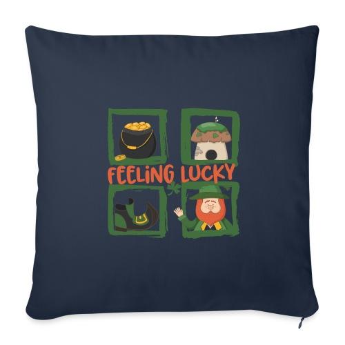 feeling lucky - stay happy - St. Patrick's Day - Sofa pillowcase 17,3'' x 17,3'' (45 x 45 cm)