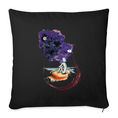 Extraterrestre en contemplation - Housse de coussin décorative 45x 45cm