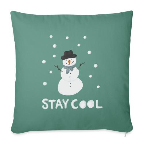 Snowman - Stay cool - Soffkuddsöverdrag, 45 x 45 cm