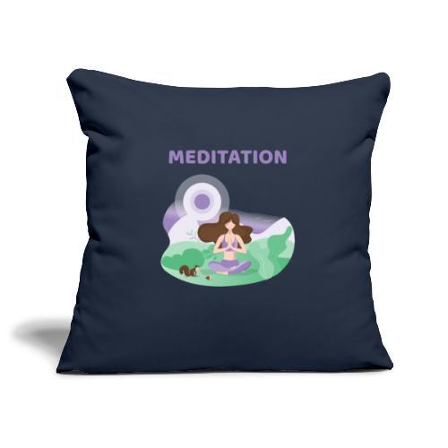 Yoga Meditation - Copricuscino per divano, 45 x 45 cm