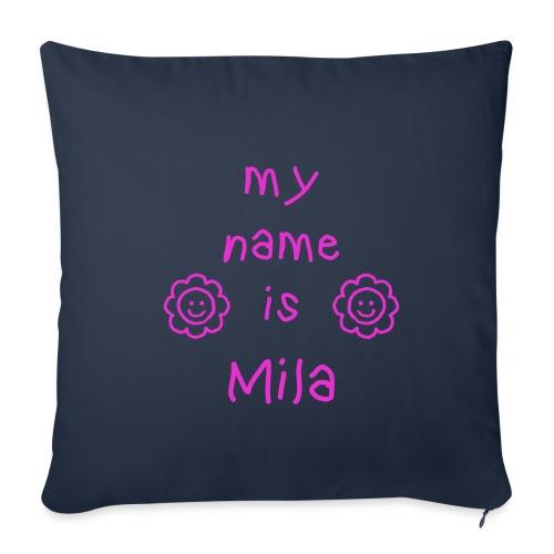 MILA MY NAME IS - Housse de coussin décorative 45x 45cm