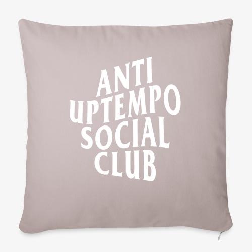 logo anti uptempo social club - Housse de coussin décorative 45x 45cm