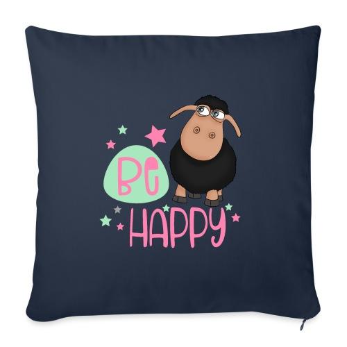 Black sheep - be happy sheep Happy sheep - Sofa pillowcase 17,3'' x 17,3'' (45 x 45 cm)