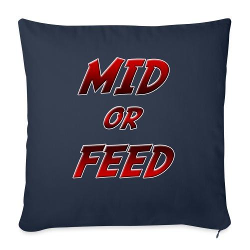 Mid or feed - Copricuscino per divano, 45 x 45 cm