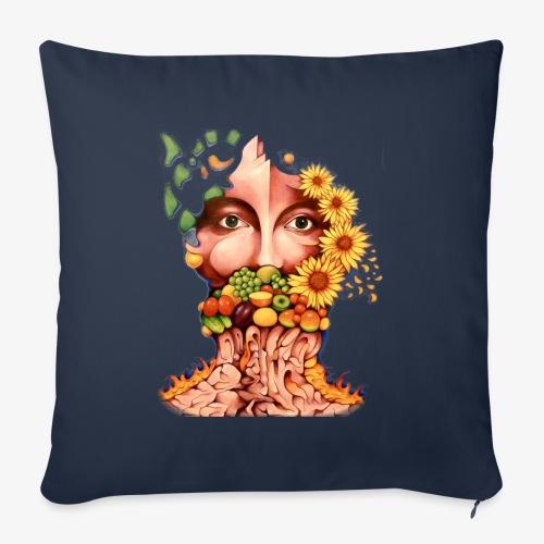 Fruit & Flowers - Sofa pillowcase 17,3'' x 17,3'' (45 x 45 cm)