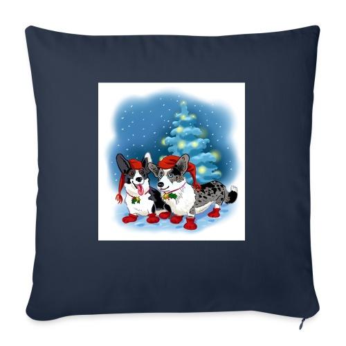 CORGI CHRISTMAS - Sofaputetrekk 45 x 45 cm
