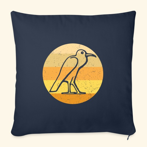 Egyptian Bird Retro - Sofa pillowcase 17,3'' x 17,3'' (45 x 45 cm)