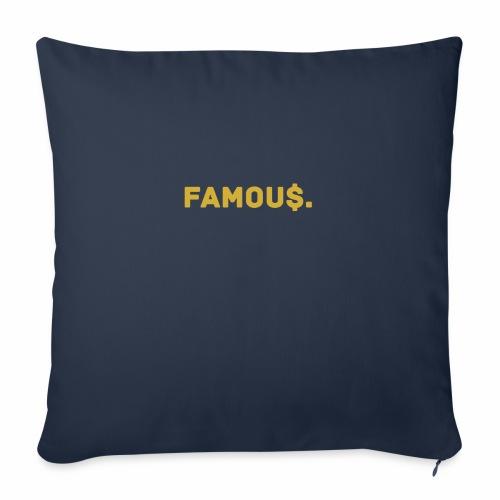 Millionaire. X Famou $. - Sofa pillowcase 17,3'' x 17,3'' (45 x 45 cm)
