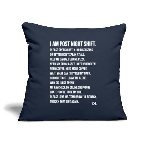 Night Shift Poem - Sofakissenbezug 44 x 44 cm