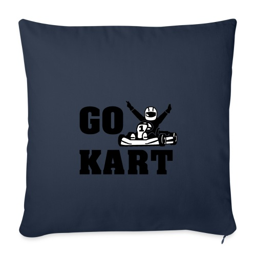 Go kart - Housse de coussin décorative 45x 45cm