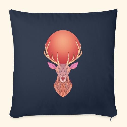 Roi Cerf Pamplemousse - Housse de coussin décorative 45x 45cm