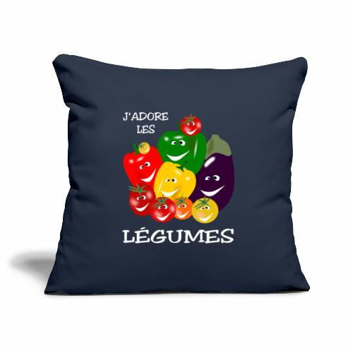 I love vegetables - Sofa pillowcase 17,3'' x 17,3'' (45 x 45 cm)