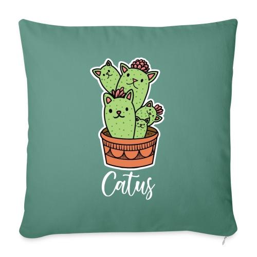 Catus Pflanze oder Tier Katze Kaktus lustig - Sofakissenbezug 44 x 44 cm