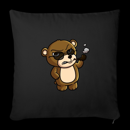 AngryTeddy - Sofa pillowcase 17,3'' x 17,3'' (45 x 45 cm)