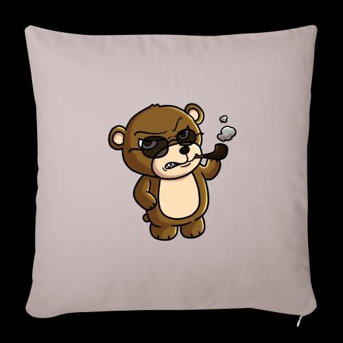 AngryTeddy - Sofa pillowcase 17,3'' x 17,3'' (45 x 45 cm)