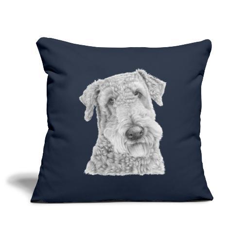 airedale terrier - Pudebetræk 45 x 45 cm