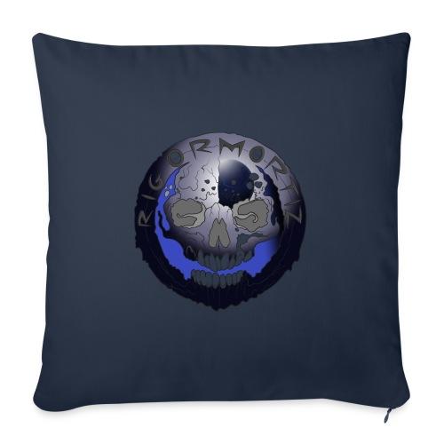 Rigormortiz Metallic Blue-Black Design - Sofa pillowcase 17,3'' x 17,3'' (45 x 45 cm)