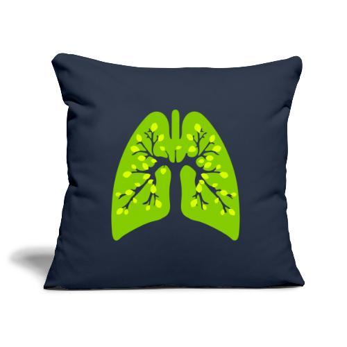 Poumon vert - Housse de coussin décorative 45x 45cm