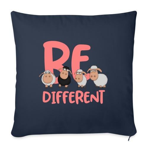 Be different pink sheep - Unique sheep - Sofa pillowcase 17,3'' x 17,3'' (45 x 45 cm)