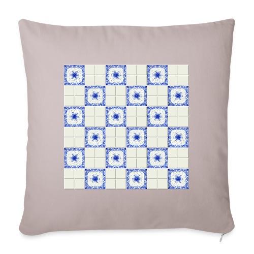 DutchieBlue1-Tile Pattern - Sierkussenhoes, 45 x 45 cm