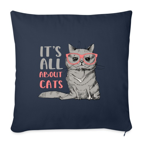 It's All About Cats: Cool Cat - Cat Lover - Sofa pillowcase 17,3'' x 17,3'' (45 x 45 cm)