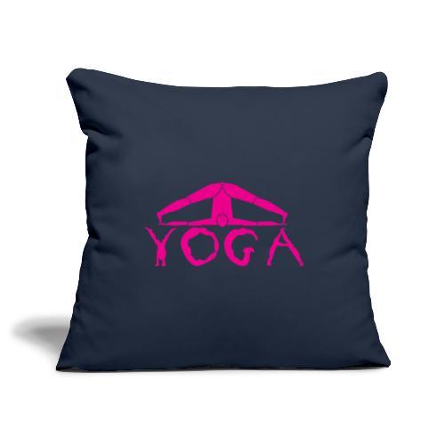 yoga yogi viola spiritualità amore namaste sport - Copricuscino per divano, 45 x 45 cm