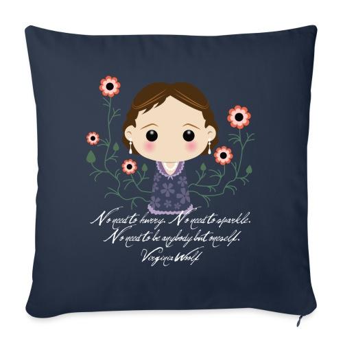 Virginia Woolf citazione [ENG] - Copricuscino per divano, 45 x 45 cm