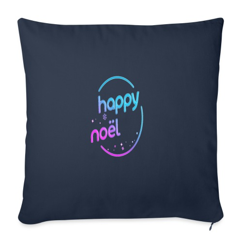 happy noel - Housse de coussin décorative 45x 45cm